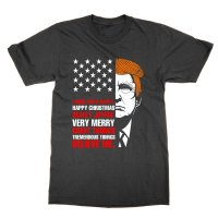 Donald Trump Happy Christmas Colourized t-shirt by Clique Wear