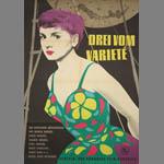 Film poster, Drei Vom Variete