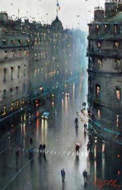 Rainy Evening Paris