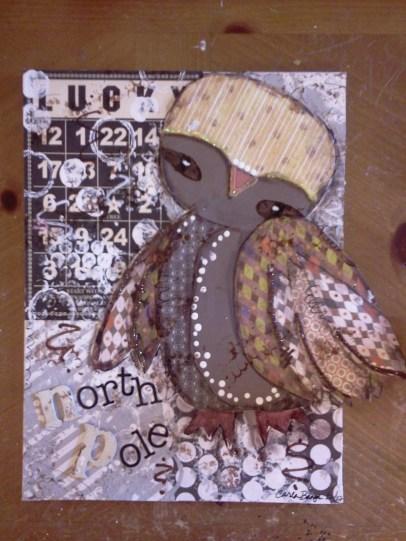 Lucky, the north pole owl