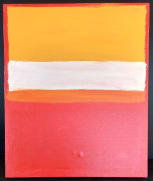 Studio exercise Mark Rothko by Carla Bange, acrylics on canvas, 2017