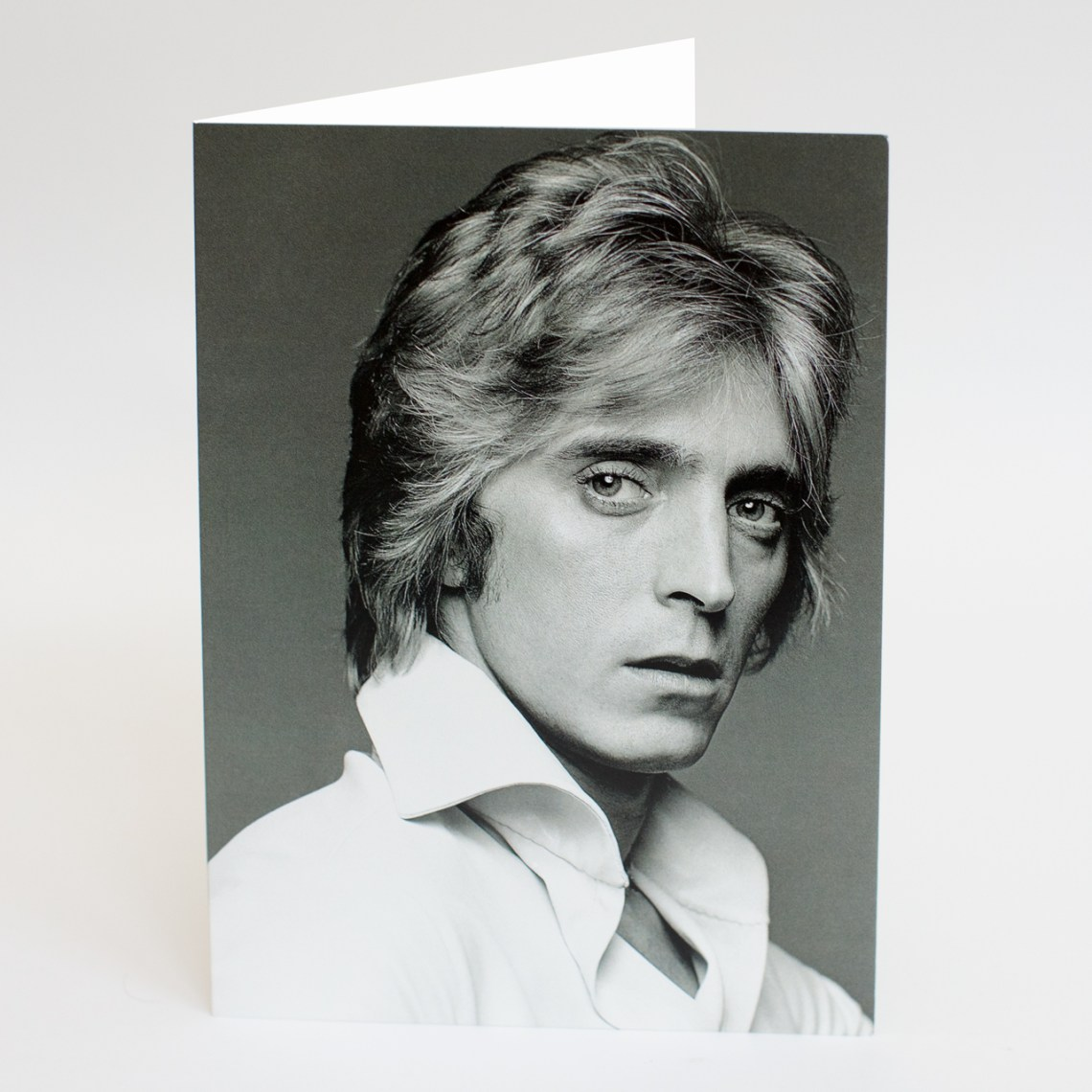 Mick Ronson White Shirt 5060634320078 - A5Card by Clive Arrowsmith