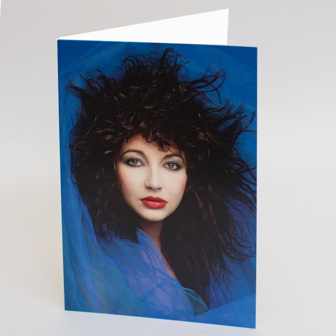 Kate Bush In Blue A5 Greetings Card - 5060634320016