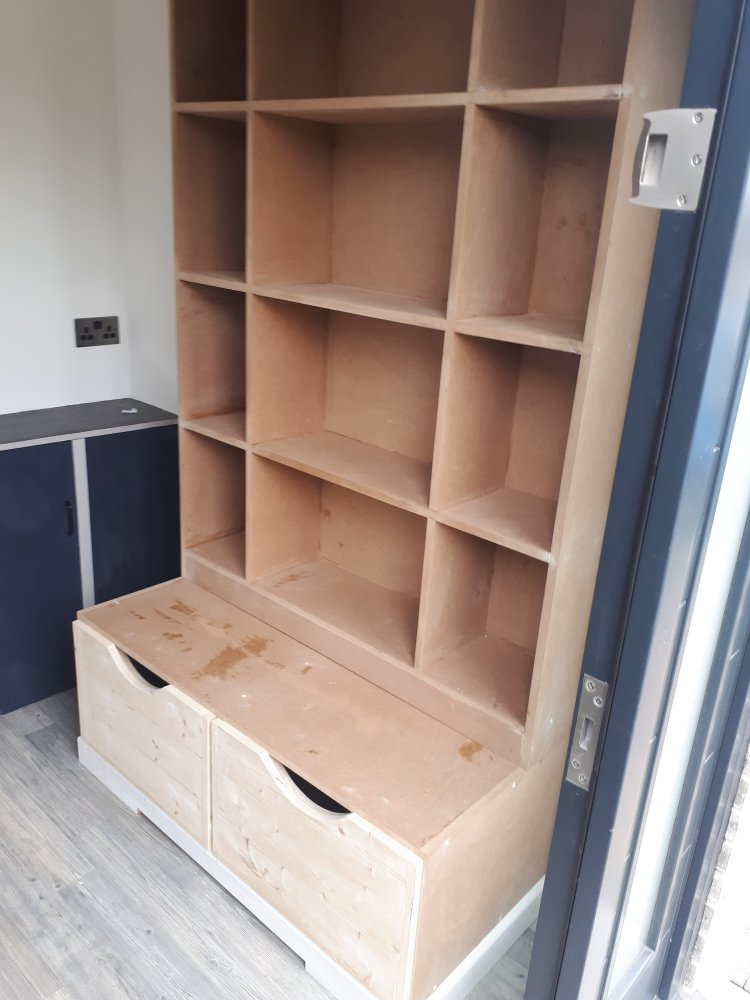 Bootroom Cabinet built by CL Joinery