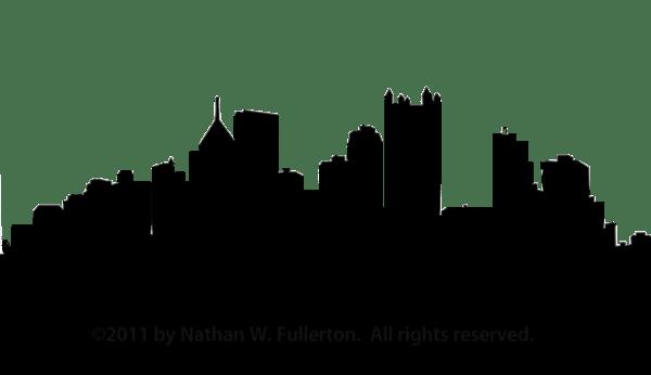 Pittsburgh Skyline Silhouette Dpi