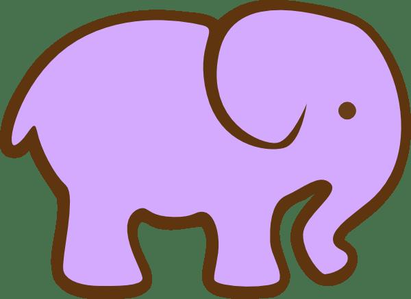 Purple Elephant Clip Art At Clker.com