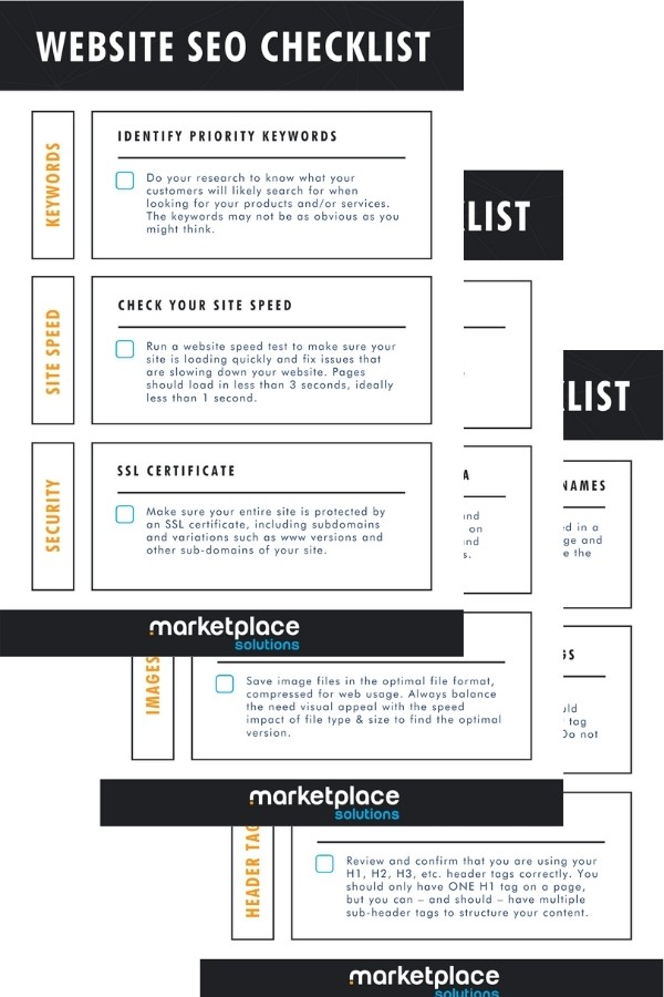 SEO Checklist Content Marketing Example