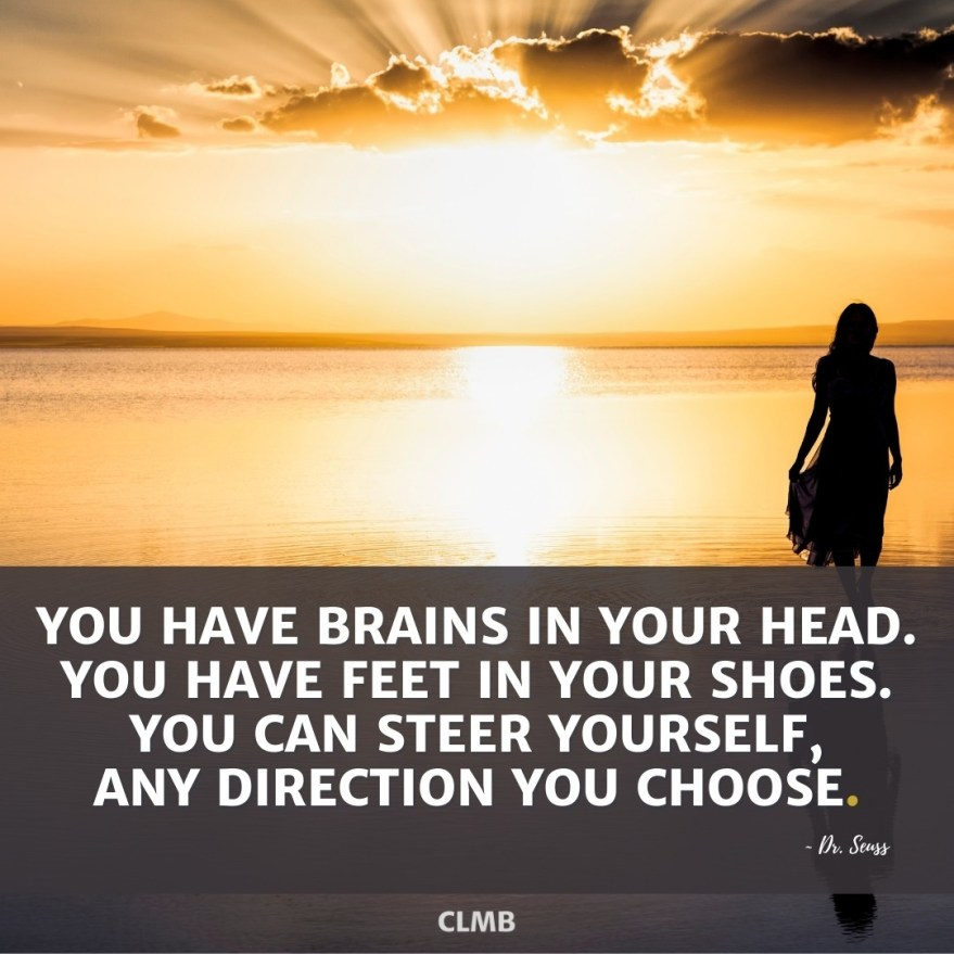 Dr Seuss Brains In Your Head Motivational Quote