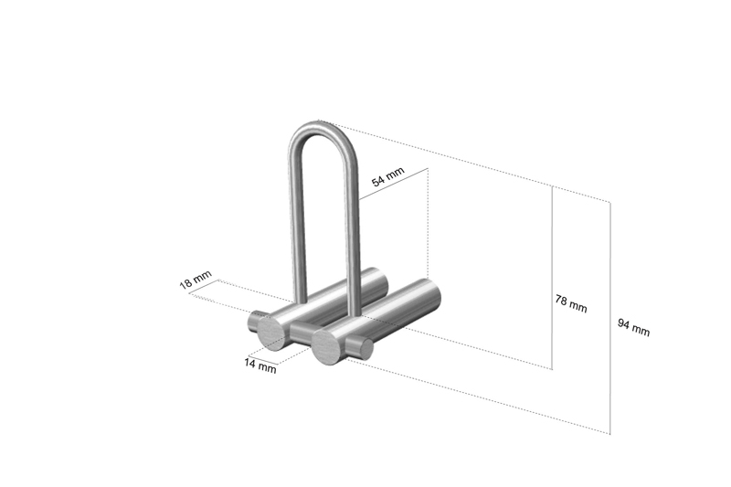 CL-218 Cool Line Spare Toilet Roll Holder Dimensions | Cloakroom Solutions