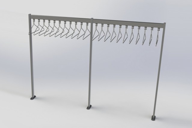 R8114.70x28 wardrobe rail | Cloakroom Solutions