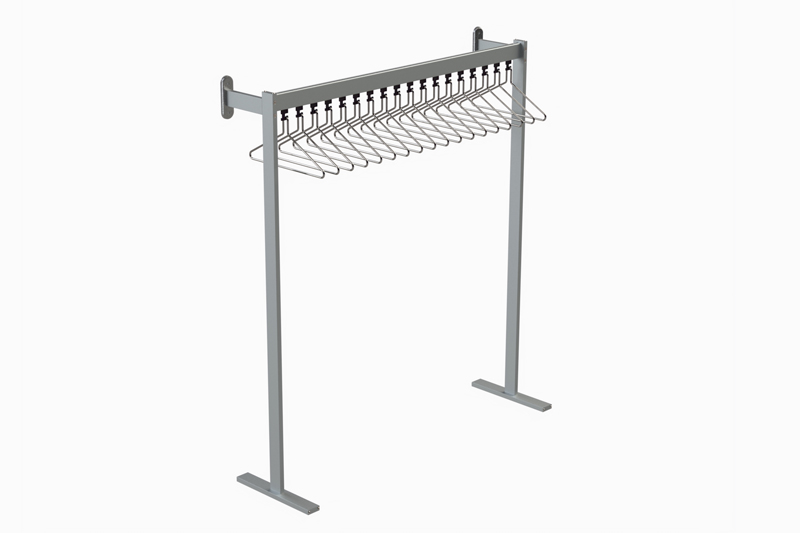 FS70x28.4 Floor to Wall Mounted Coat Rail | Cloakroom Solutions