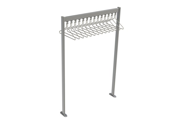 FS70x28.1 Free Standing Coat Rail | Cloakroom Solutions