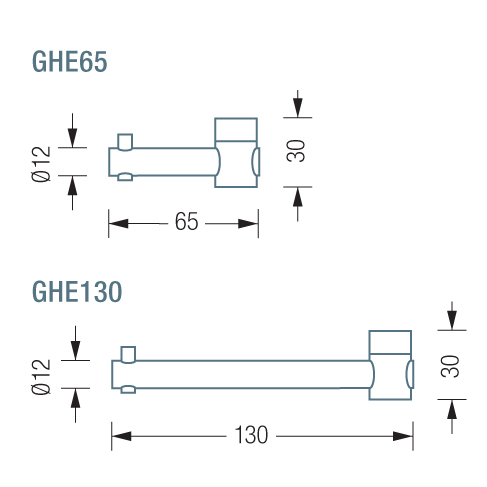 PHOS GHE65 & 130 Hook Dimensions | Cloakroom Solutions