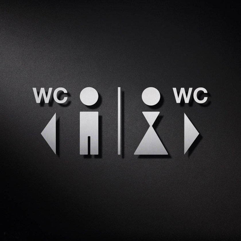 P0210 WC Signage | Cloakroom Solutions