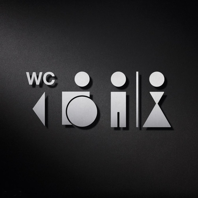 P0212 WC Signage | Cloakroom Solutions