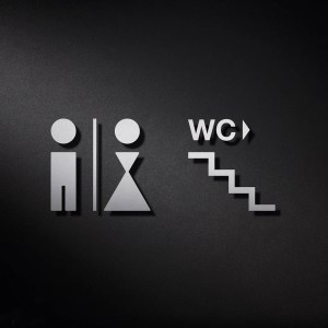 P0215 WC Signage | Cloakroom Solutions