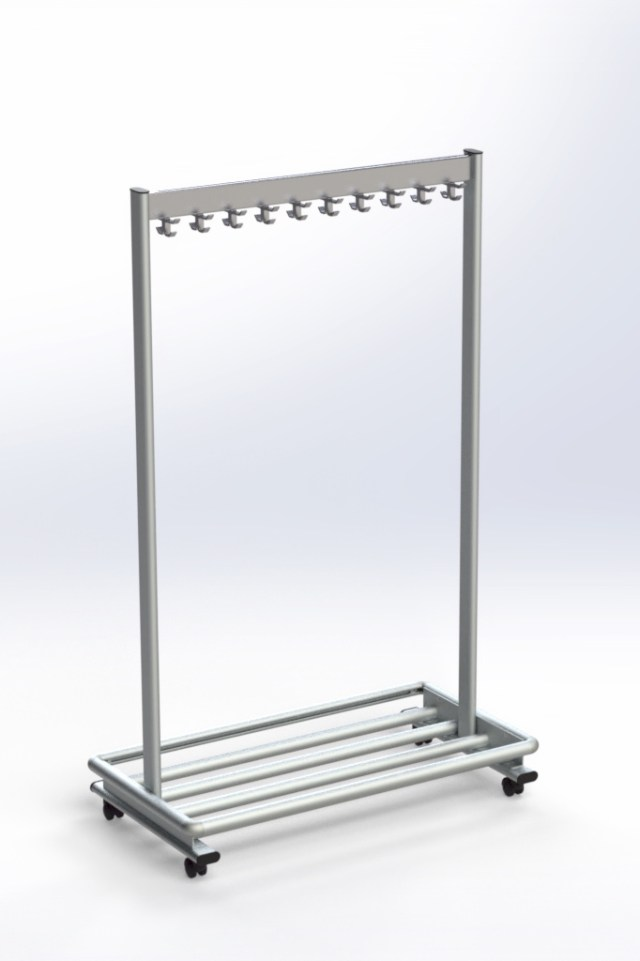 RG70LR-20 Mobile Coat Rack | Cloakroom Solutions
