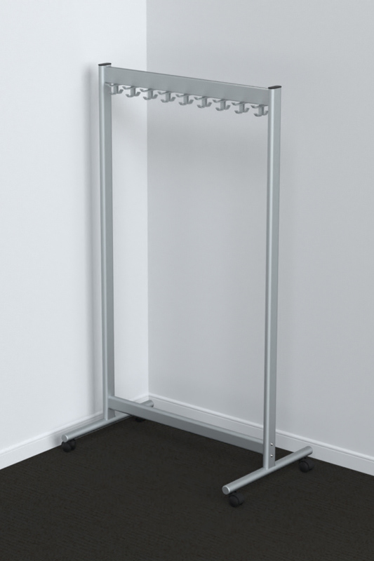 RG70x28-20 Mobile Coat Rack | Cloakroom Solutions