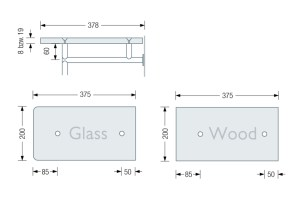 PHOS GL1G & GL1H Coat Stand dimensions   Cloakroom Solutions