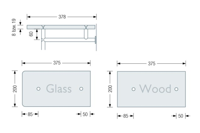 PHOS GL1G & GL1H Coat Stand dimensions | Cloakroom Solutions