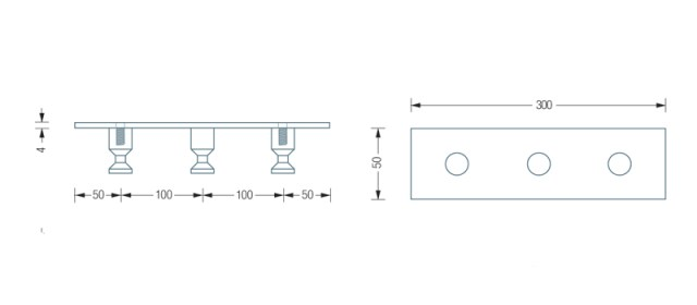 PHOS HL3 Hook Rail Dimensions | Cloakroom Solutions