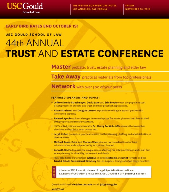 USC Trust And Estate Conference