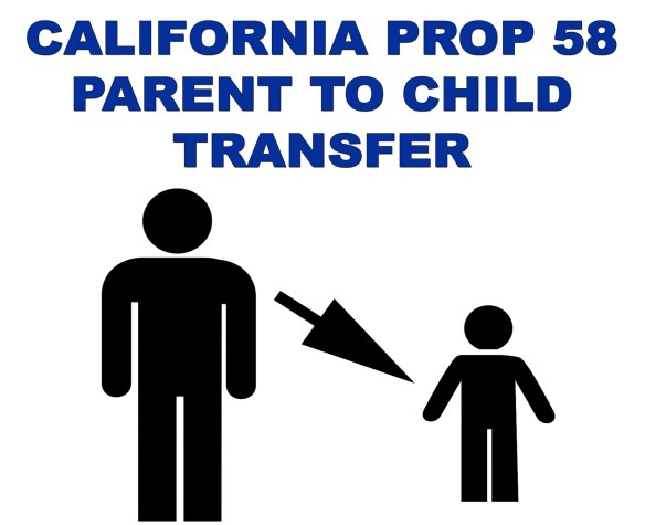California Proposition 58 Parent to Child Transfer