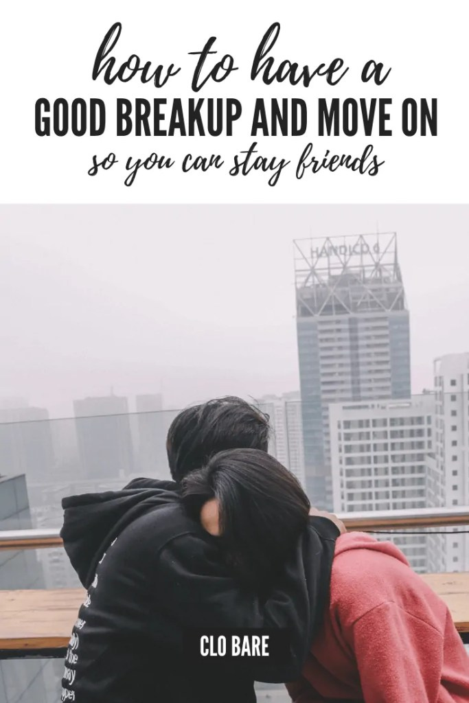couple breaking up in a city scene
