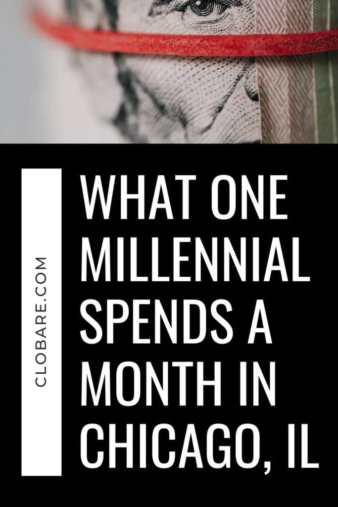 what one millennial spends a month