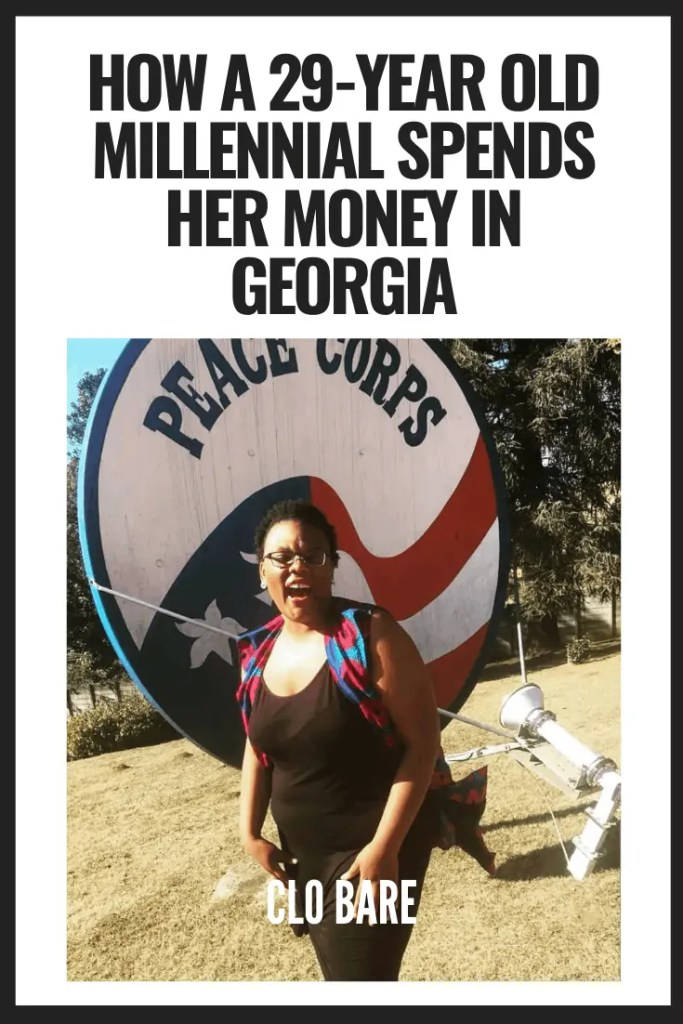 how a 29-year old millennial spends her money in georgia