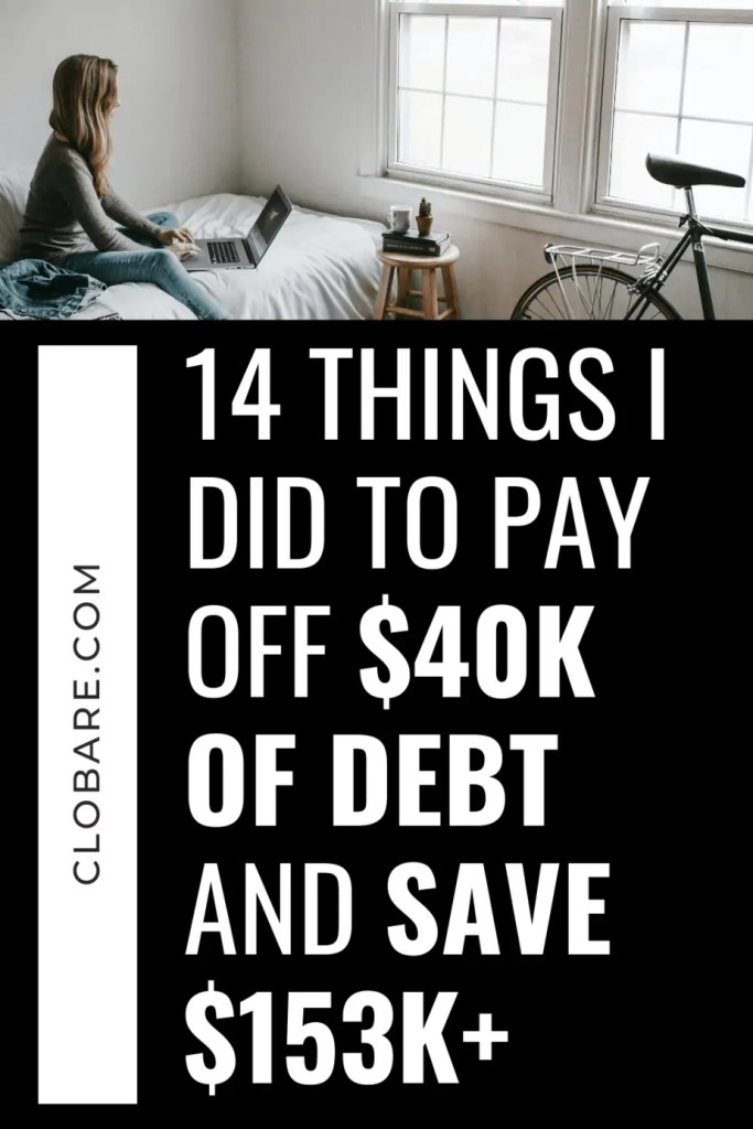 14 things I did to pay off $40k of debt