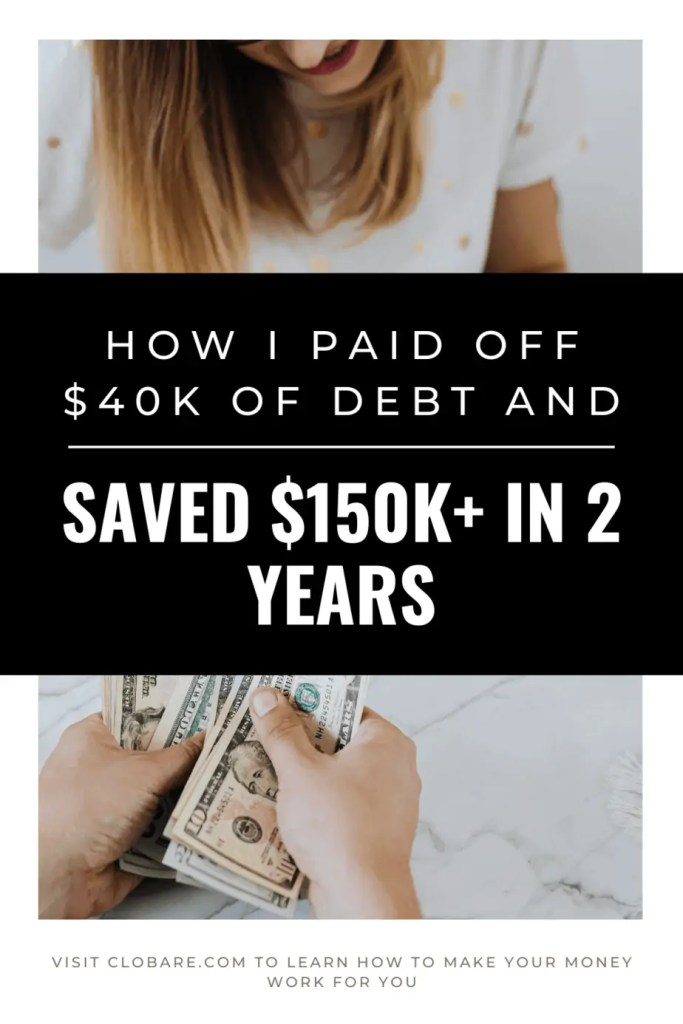 how I paid off debt and saved $150k in two years