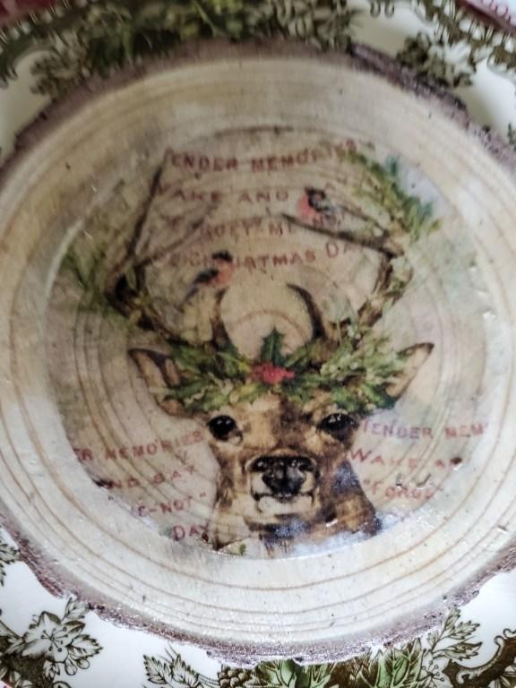 DIY wood coaster with a head of a deer