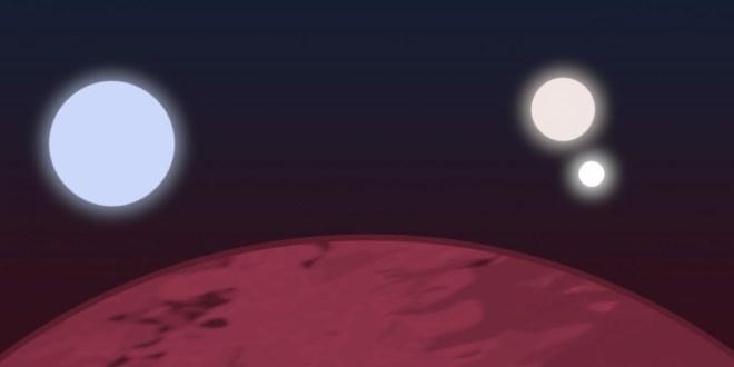 planet three suns
