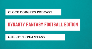 Fantasy Football Dynasty Clock Dodgers TEPfantasy