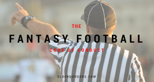 fantasy football code of conduct