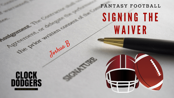 Signing the Waiver