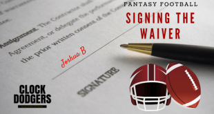 signing the waiver week 8