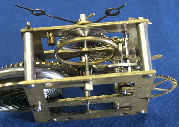 Hubbell movement showing balance and escapement