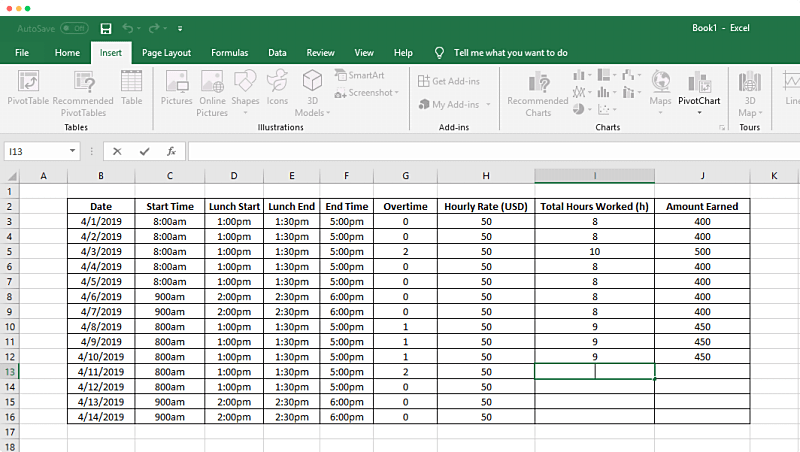 How To Track Time In A Spreadsheet Clockify