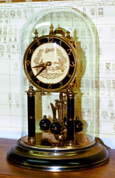 Schatz standard 400 day clock with black trim