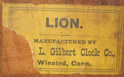 Label on backboard