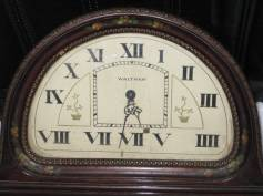 Closeup view of the dial. Note the two numeral sevens!