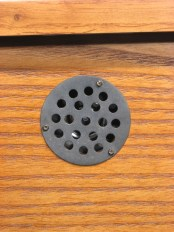 Outside view of the bottom of Hermle model 22825-i92215, showing the cover over the speaker.