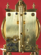 Jahresuhrenfabrik model 49 movement. Horolovar back plate no. 1271.