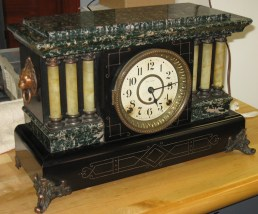 "Seth Thomas ""Adamantine"" Mantel Clock with ""DIng Dong"" Strike"