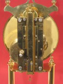 Kundo standard 400 day clock, Horolovar back plate no. 1375, with suspension guard in unlocked position.
