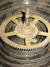 Time mainwheel and mainspring before repair.