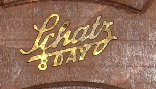 "Brass name plate ""Schatz 8 Day"""