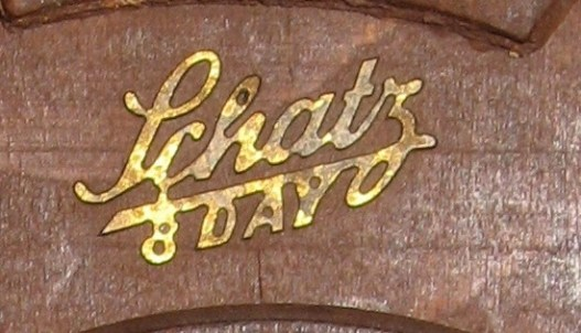 "Brass name plate ""Schatz 8 Day"""